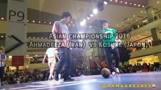 حرکات شگفت انگيز جوان ایرانی در قهرمانی آسیا فوتبال نمایشی
