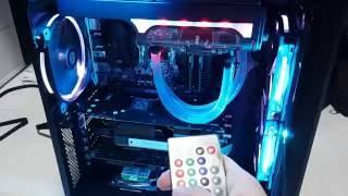 RGB PC Build. Swiftech h240 x2. Swiftech h240 x2 , thermaltake riing rgb,