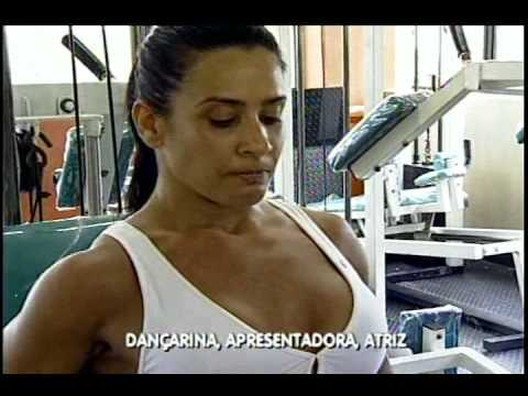 Sheila na Academia Condominio do Fitness So Vicente Record