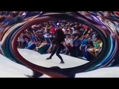 College girl hot dancing on floor 2017