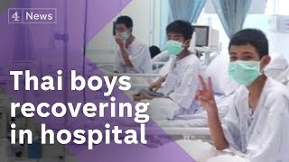 Thailand cave rescue: first pictures of boys recovering in hospital