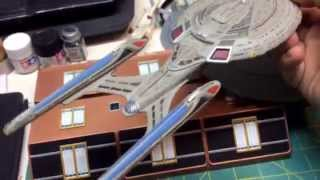 USS Enterprise evolution 1/2500 scale and a Large C -lol