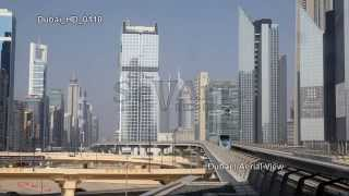 UHD Ultra HD 4K Video Stock Footage Dubai Aerial View Skyline Cityscape Day Night Busy Streets