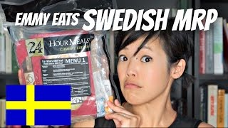 Swedish 24-hour MRP Menu 1 - tasting a Swedish MRE