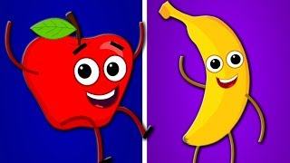 Apple And Bananas Song | Kindergarten Nursery Rhyme  | Songs for Babies | Toddlers Videos by Kids Tv