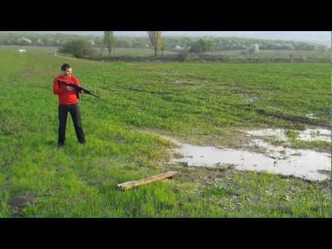 Вепрь 12к. Стрельба картечью в воду.mp4
