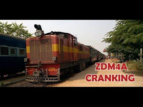CRANKING / Starting Up of a Narrow Gauge Diesel Locomotive : Indian Railways DIWALI SPECIAL