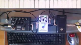 Demo MXR Bass Compressor & Bass D.I. + / Korg Pitchblack Poly