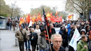 TTİP Hannover yürüyüsü DİDF korteji