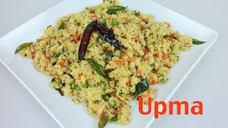Upma Sooji - Healthy and Easy Breakfast Recipe