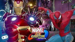 Civil War Marvel vs Capcom Infinite Gameplay With Team Iron Man VS Team Captain America