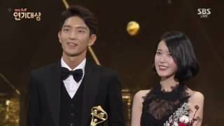 Vietsub | 161231 | IU & Lee Joon Gi @ SAF SBS Drama Awards - Best Couple
