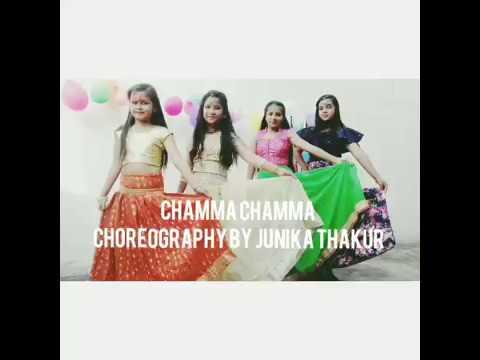 Bollywood dance on song 'chamma chamma' ||fraud saiyan || choreography by junika thakur💗