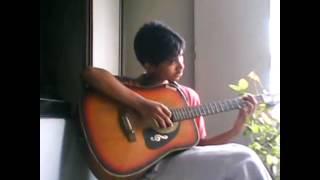 Amake amar moto thakte dao guitar version.....