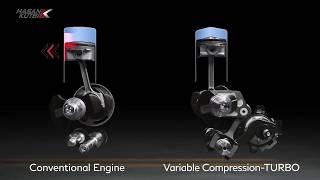 محرك انفينتي  في سي توربو - متغير الانضغاط توربو - VC-Turbo   حسن كتبي