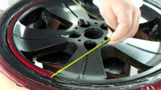 How to Repair Your Car Wheels & Paint Rims / Candy Red & Black カスタムペイント・キャンディー塗装