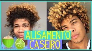 ALISAMENTO NATURAL CASEIRO cabelo cacheado masculino