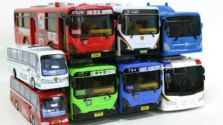 Public Bus Carbot Combination Transfomation Robot Car Toys 대중교통 시내버스 경찰버스 헬로카봇  대중교통 자동차 장난감 동영상