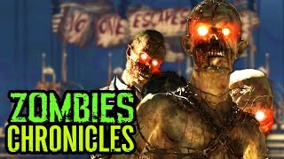 MOB OF THE DEAD EASTER EGGS IN ZOMBIES CHRONICLES! - NEW Verruckt Zombies Chronicles Easter Eggs