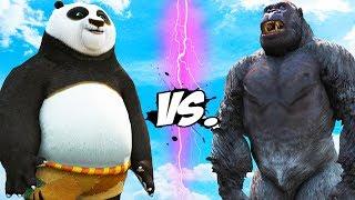 Gorilla vs Po - Kung Fu Panda
