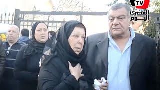 رجاء الجداوي تودع زوجها حسن مختار إلي مثواه الأخير