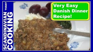 How To Make Easy Danish Million Beef Dinner with Mashed Potatoes or in Danish Millionbøf