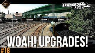 Buying upgrades galore | Transport Fever Metropolis series #18