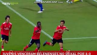 Juvenis 'A', 3ª jornada da 1ª fase do CN: SL Benfica 4-0 CF Belenenses