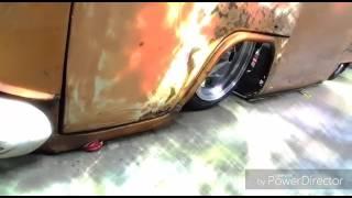 VW T2 slammed Orange bodydrop airride