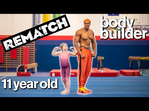 BODYBUILDER vs MY DAUGHTER Part 2 Cute Fitness and Gymnastics Challenge