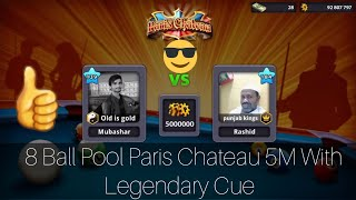 8 Ball Pool- IMPOSSIBLE Shots On 8 Ball Pool (Paris Chateau 5M) With Legendary Cue