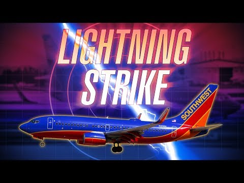 Southwest 737 Struck by Lightning Departing Manchester with ATC audio