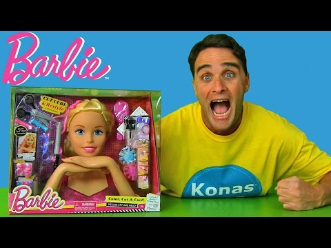Barbie Deluxe Color, Style and Cut Styling Head!  ! || Toy Review || Konas2002