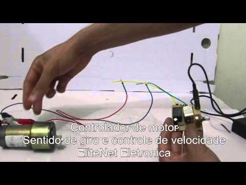 Controlador de motor com sentido de giro e controle de velocidade 12V