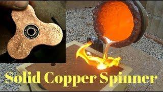 Making Copper Fidget Spinner - Start to Finish - Casting