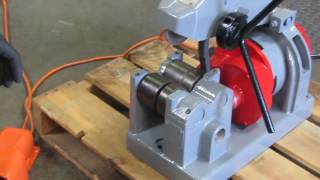 Rothenberger Collins E-Z Cutter Pipe Cutting Machine with foot pedal ridgid 258