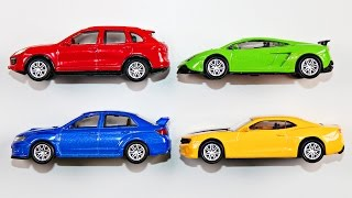 Learning Colors with Street Vehicles for Kids Learn Colours Cars Trucks Hot Wheels Matchbox Tomica