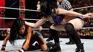 Paige & AJ Lee vs  Natalya & Emma  WWE RAW 07 21 14