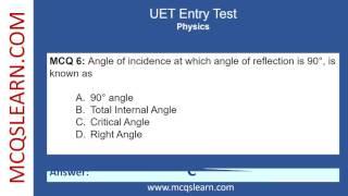 UET Entry Test Preparation – MCQsLearn Free Videos