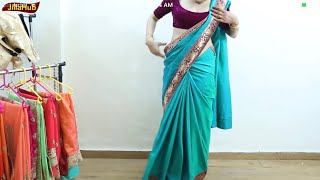 How To Wear Crape Saree Perfectly | Priyanka Chopra Desi Girl Diva Style Saree DRAPE in 3 mints