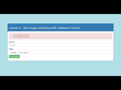 Laravel - Ajax Image upload with validation Tutorial