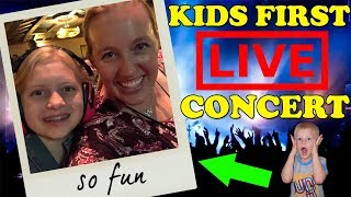 Kids React to Going to Their First Concert! || Mommy Monday