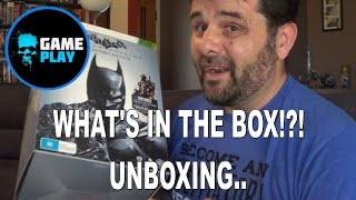 Batman Arkham Origins Collectors Edition Unboxing Game Figure and art book