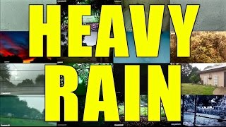 2 Hours LOUD Heavy Rain and Thunder, Heavy Rainfall and Ambient Sounds