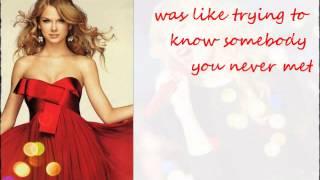 Taylor Swift- Red- Acoustic- Lyrics on screen