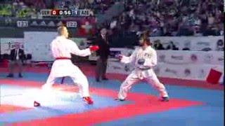 Rafael AGHAYEV vs Noah BITSCH. FINAL Male Kumite -75kg. European Karate Championships 2015