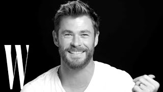 Chris Hemsworth On Kissing His Wife in Thor and Losing Role To Liam | Screen Tests | W Magazine