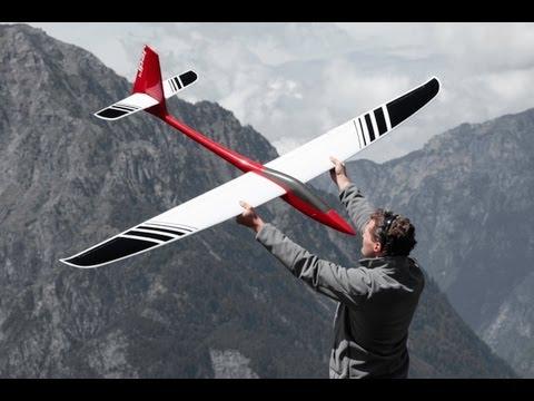 Jedi 4 Airtech - RC glider slopesoaring aerobatics shot with GoPro and Canon 5D Mk II