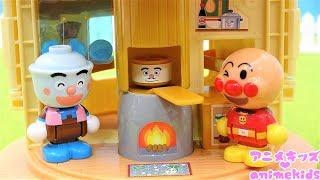 アンパンマン アニメ おもちゃ アンパンマンタウン ようこそ!たきたて!てんどんまんのどんぶりショップ animekids アニメキッズ Anpanman Toy