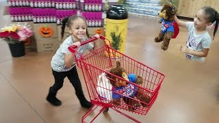 Kids Pretend Play Shopping at Supermarket! Imani Finds Mystery Teddy Bear!!